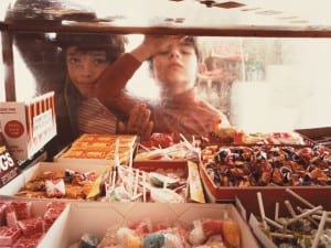 Louis Carlos Bernal. Martinez Brothers in Candy Store, Douglas, Arizona, 1978.