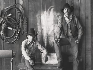 Jay Dusard, Buster Scarbrough and Bob Pulley, A Bar V Ranch, Arizona, 1981.