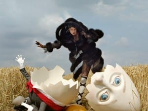 Tim Walker, Karlie Kloss and Broken Humpty Dumpty, 2011. Rye, East Sussex.
