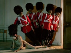 Tim Walker, Malgosia Bela and Five Guardsmen, 2009. Glemham Hall, Suffolk.