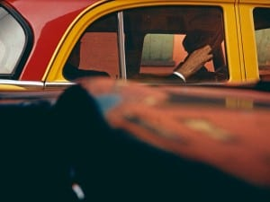Saul Leiter, Taxi, ca. 1957. © Saul Leiter. Courtesy of Howard Greenberg Gallery, New York.