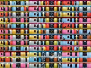 Roger Frei, Composition with six colors (Ausschnitt), from the series Aedes, 2013. Pigment Inkjet Print, 160 x 220 cm