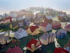 James Casebere, Landscape with Houses (Dutchess County, NY) #1, 2009. © James Casebere. Courtesy of the artist and Sean Kelly, New York.