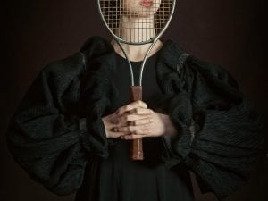 Romina Ressia, Woman Playing Tennis.