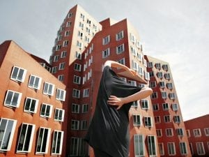 Anna Di Prospero, Untitled, 2010. The Gehry buildings – Düsseldorf, Germany. From the series Urban Self-portrait.