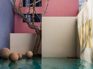 James Casebere, <I>Flooded Courtyard with Tree,</I> 2017.  © James Casebere, courtesy: Sean Kelly, New York.